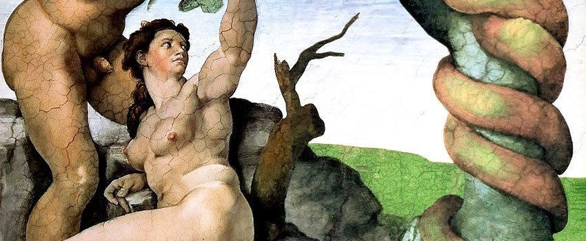 Adam Eve Michelangelo