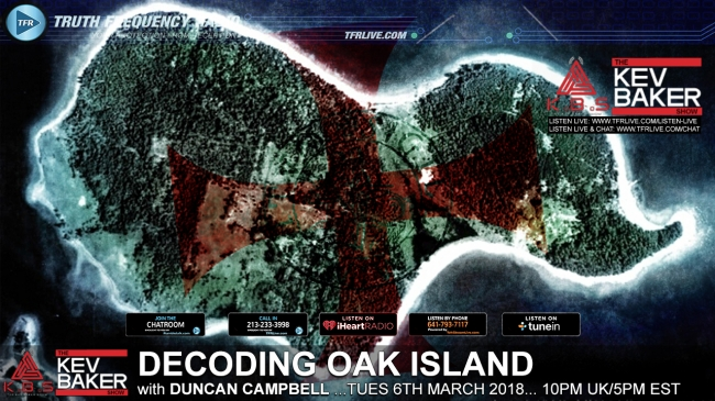 decoding the mystery of oak island tfr live truth frequency radio. Black Bedroom Furniture Sets. Home Design Ideas
